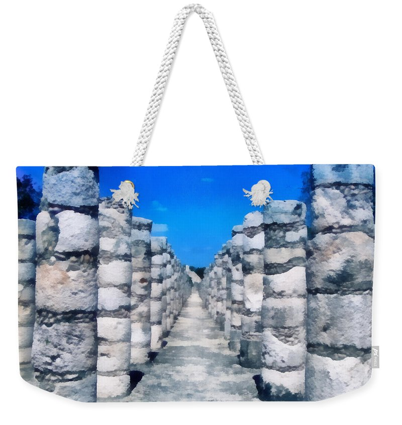America Weekender Tote Bag featuring the digital art A Thousand Columns by Roy Pedersen