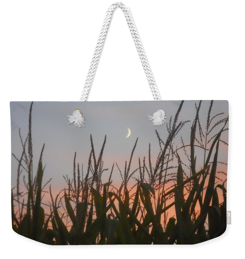 Corn Weekender Tote Bag featuring the photograph A Touch Of Pink by Coleen Harty