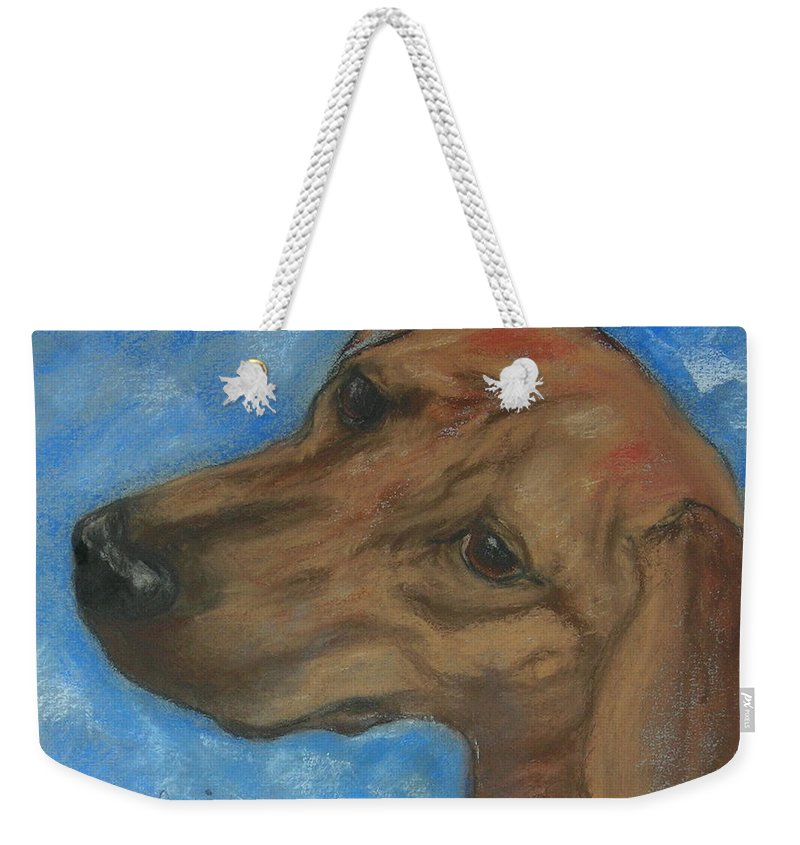 Pastel Weekender Tote Bag featuring the drawing A Twist Of Might by Cori Solomon