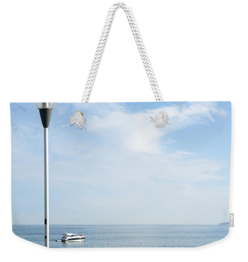 Activity Weekender Tote Bag featuring the photograph a View from Pier by Svetlana Sewell
