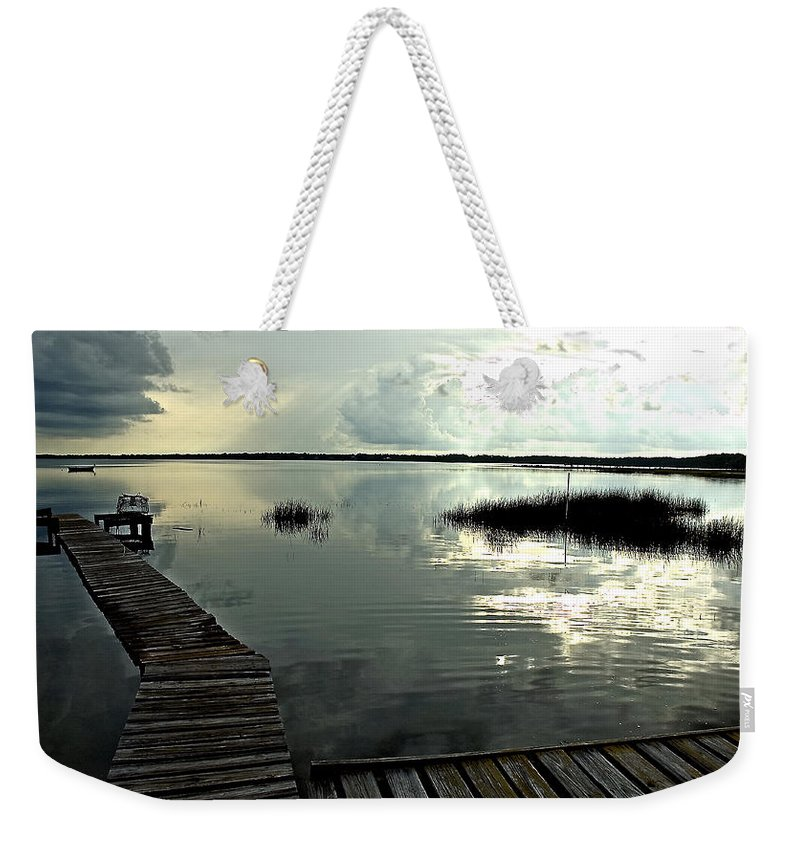 Seascape Weekender Tote Bag featuring the photograph A Walk Into The Closing Day by Norman Johnson