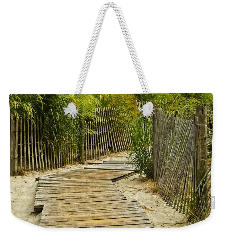 Beach Weekender Tote Bag featuring the photograph A Walk To The Beach by Colleen Kammerer