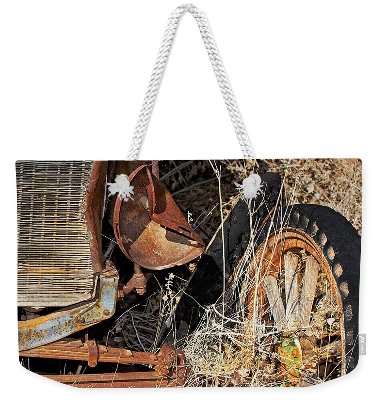 Car Weekender Tote Bag featuring the photograph A Wink In Time by Phyllis Denton