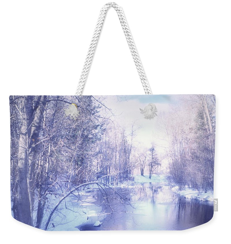 Winter Weekender Tote Bag featuring the photograph A Winter Reverie by Tara Turner