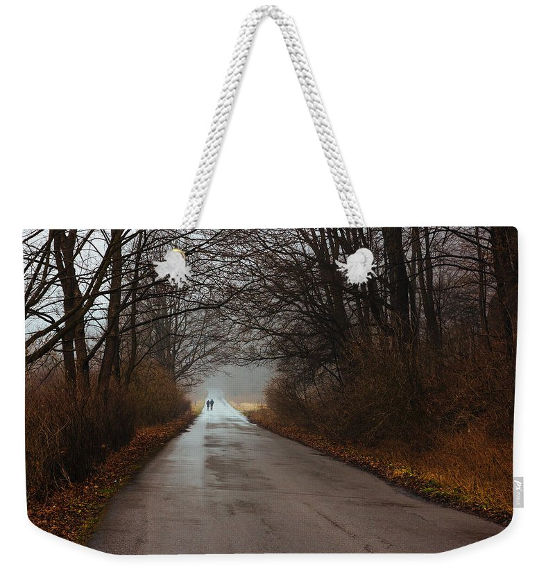 People Weekender Tote Bag featuring the photograph A Winter Walk by Pati Photography