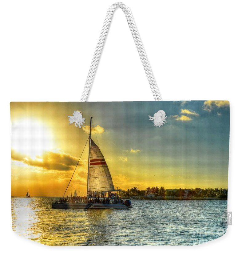 Sail Weekender Tote Bag featuring the photograph A Yacht Of Fun by Debbi Granruth