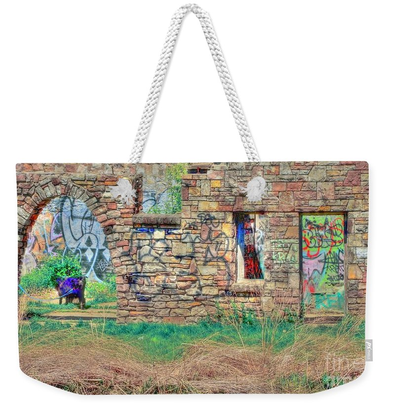 Abandoned Weekender Tote Bag featuring the photograph Abandoned Building by Kathleen Struckle