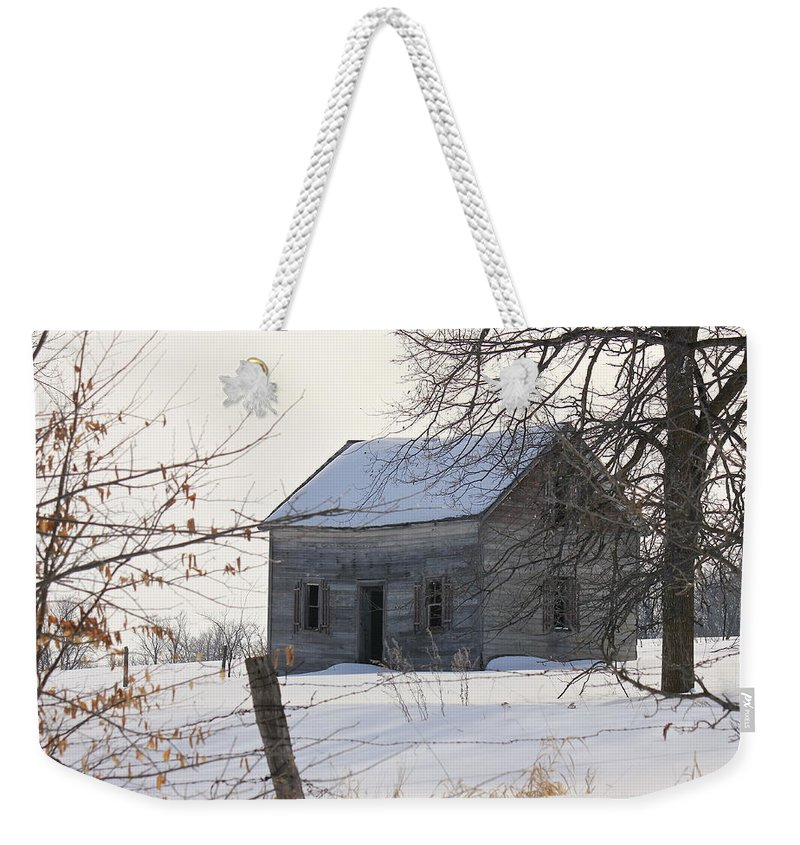 Abandoned Weekender Tote Bag featuring the photograph Abandoned But Not Forgotten by Penny Meyers