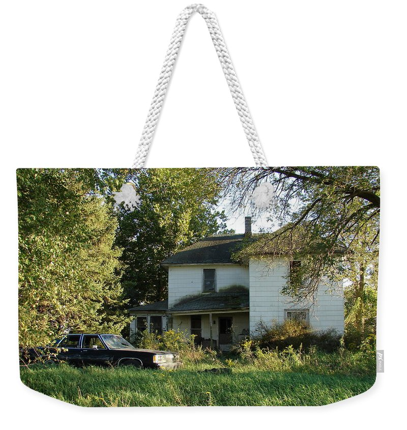 Abandoned Weekender Tote Bag featuring the photograph Abandoned by Cassie Peters