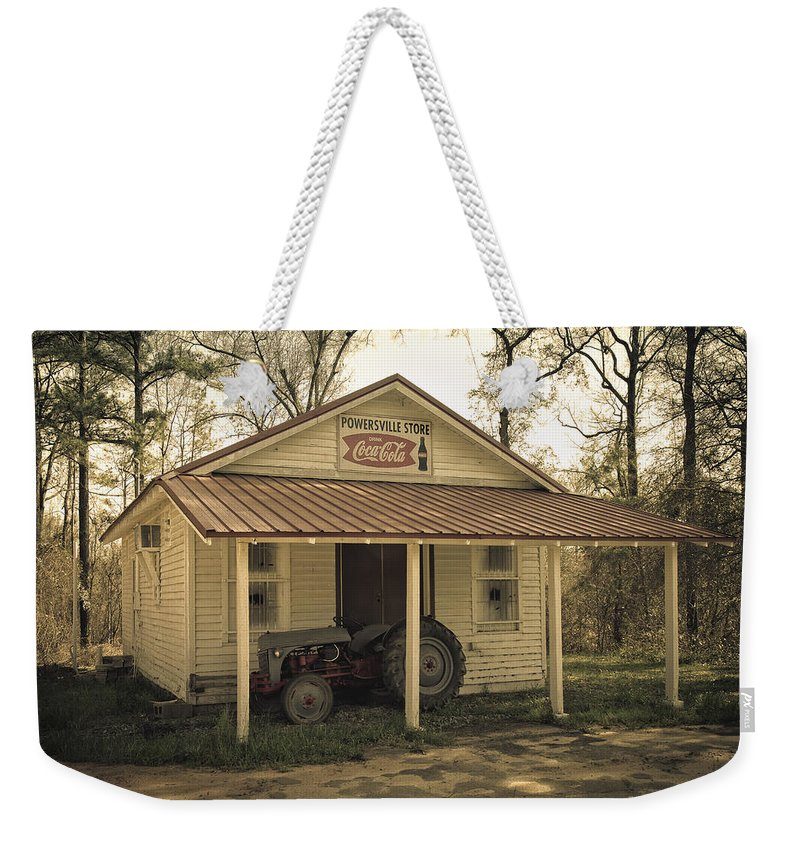 Gas Station Weekender Tote Bag featuring the photograph Abandoned by Kim Hojnacki