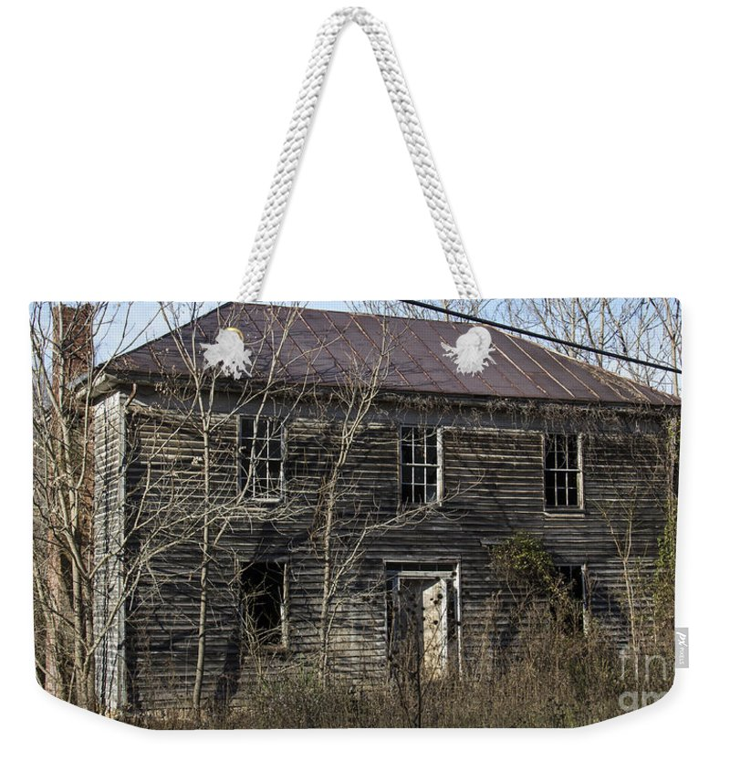 Abandoned Weekender Tote Bag featuring the photograph Abandoned Mansion by Teresa Mucha