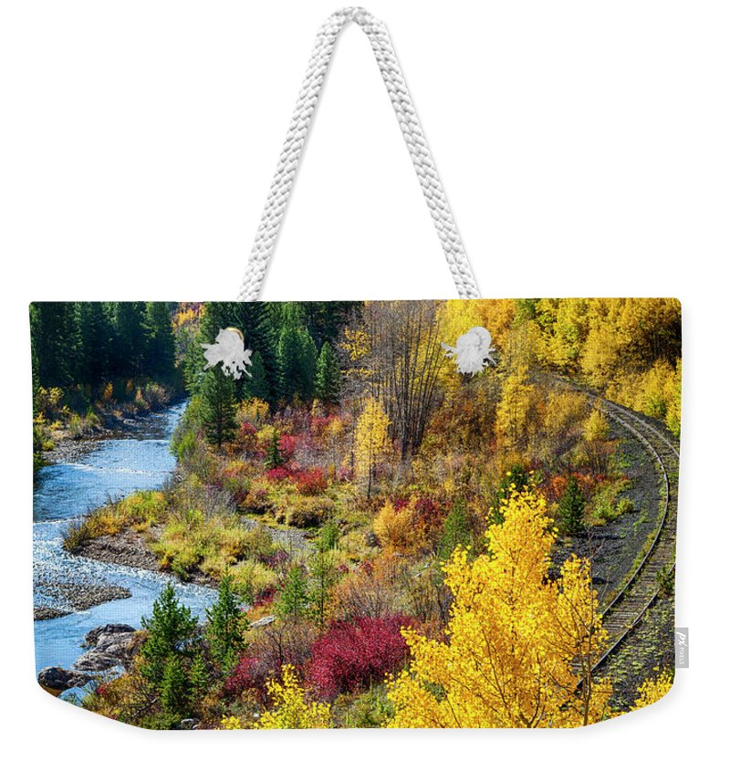 Scenics Weekender Tote Bag featuring the photograph Abandoned Railway by C. Fredrickson Photography
