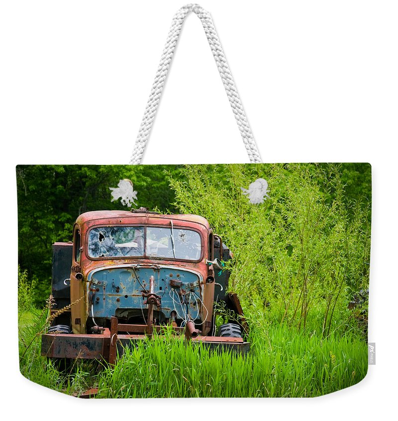 3scape Photos Weekender Tote Bag featuring the photograph Abandoned Truck In Rural Michigan by Adam Romanowicz