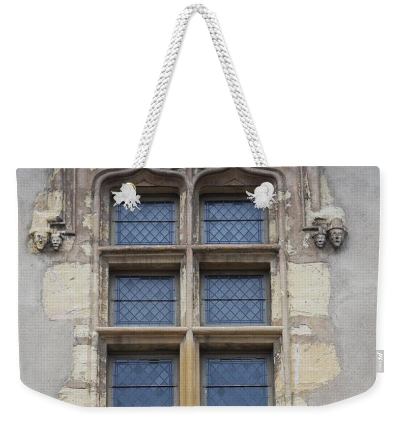 Palace Weekender Tote Bag featuring the photograph Abbot Palace Window - Cluny - Burgundy by Christiane Schulze Art And Photography