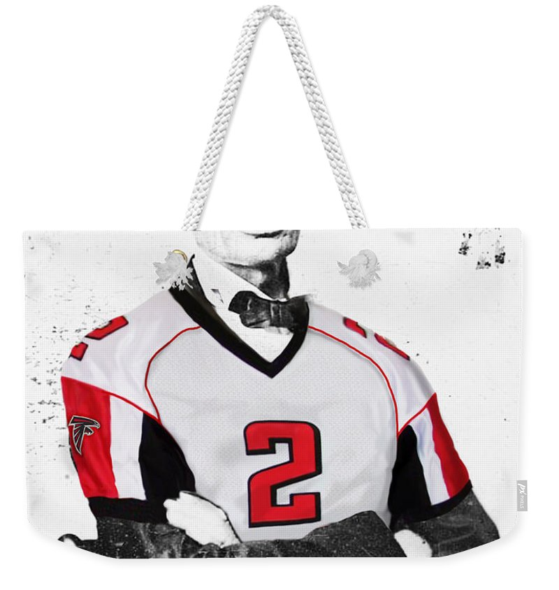 separation shoes e04f3 bbd16 Abe Lincoln In A Matt Ryan Atlanta Falcons Jersey Weekender Tote Bag for  Sale by Roly Orihuela