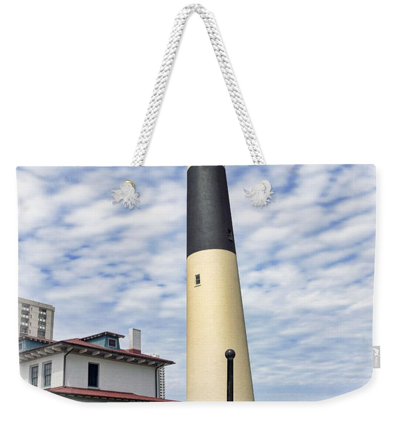 Lighthouse Weekender Tote Bag featuring the photograph Abescon Lighting New Jersey by Geraldine Scull