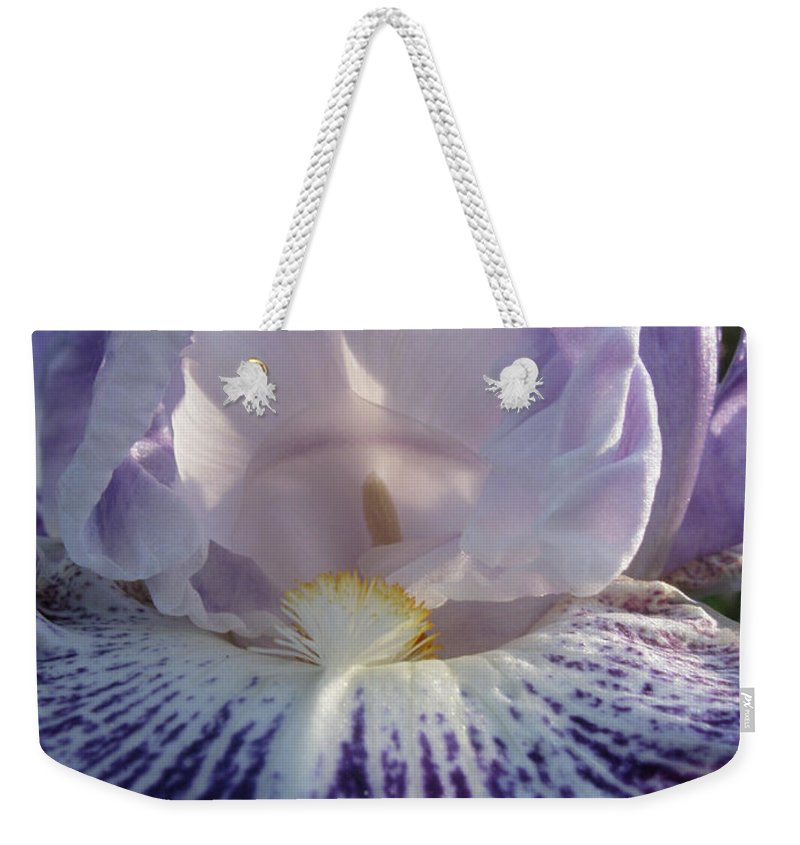 Flower Weekender Tote Bag featuring the photograph Abode by Lisa Foster