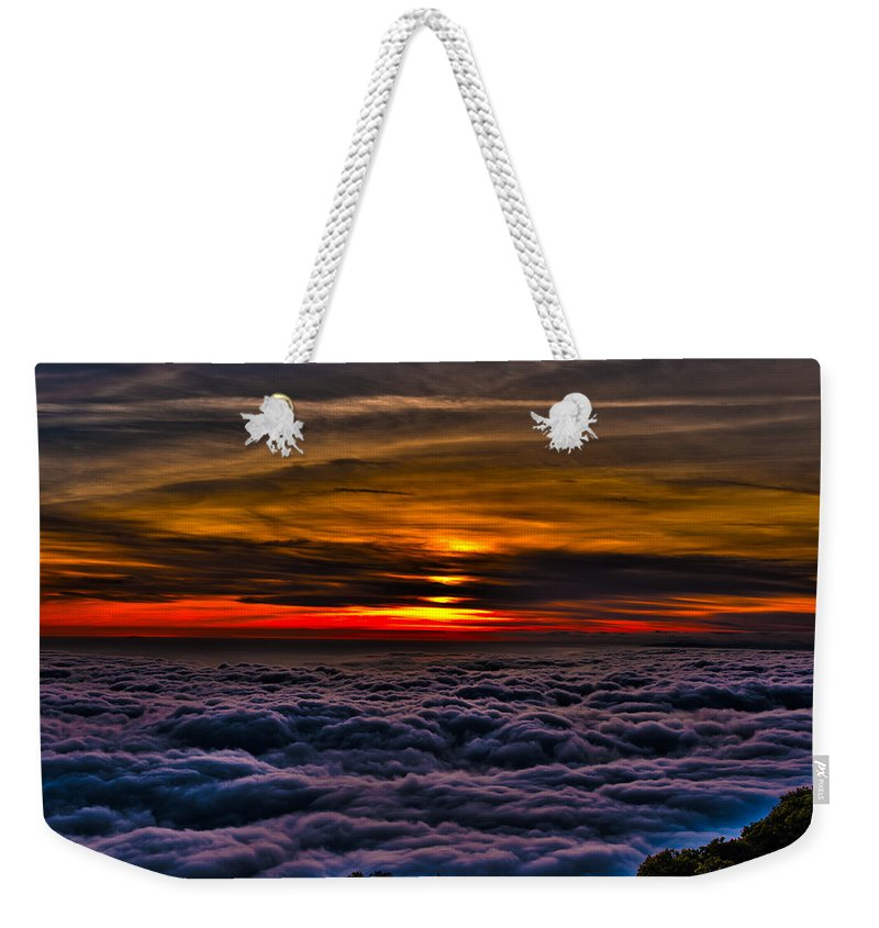 Mt Wilson Weekender Tote Bag featuring the photograph Above The Marine Layer by Richard J Cassato