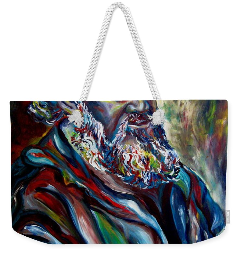 Abraham Patriarh Weekender Tote Bag featuring the painting Abraham Patriarch by Carole Spandau
