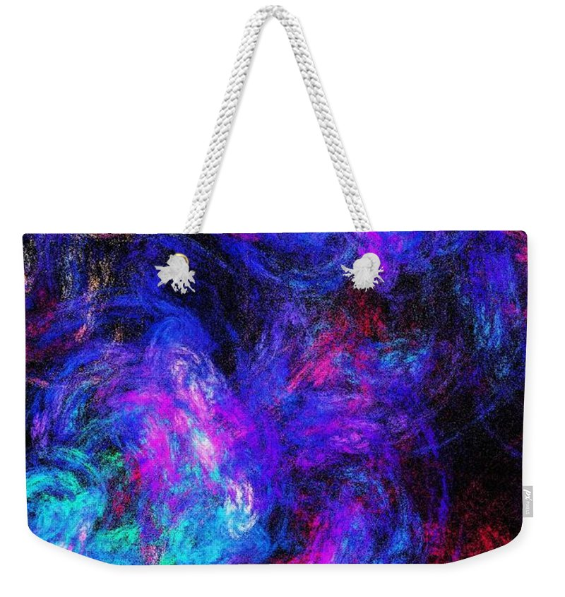 Fine Art Weekender Tote Bag featuring the digital art Abstract 021314 by David Lane