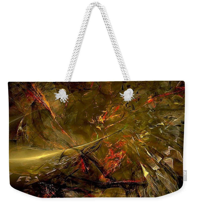 Graphics Weekender Tote Bag featuring the digital art Abstract 0370 - Marucii by Marek Lutek