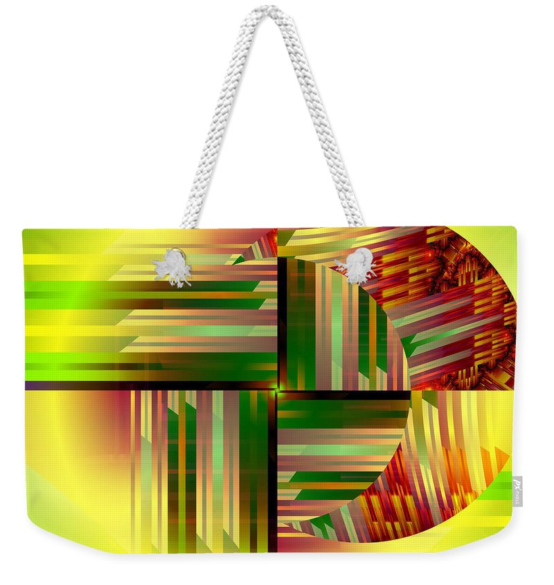 Abstract Art Weekender Tote Bag featuring the digital art Abstract 0411 by Mario Carini