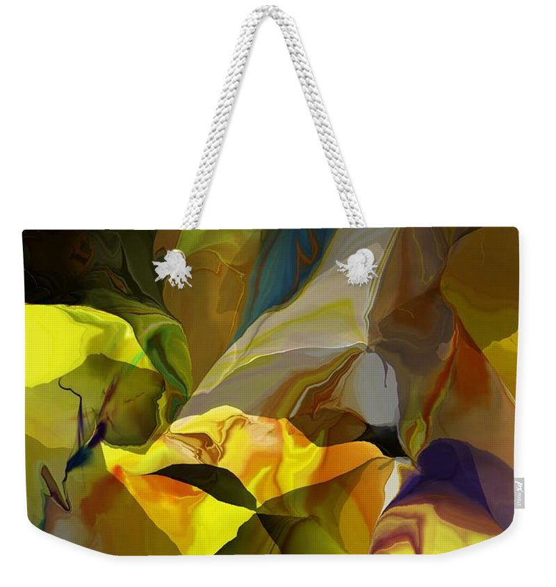 Fine Art Weekender Tote Bag featuring the photograph Abstract 042113 by David Lane