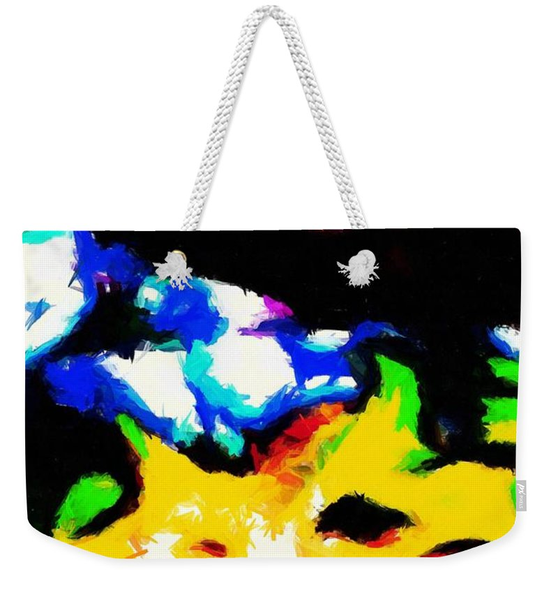 Abstract 103 Weekender Tote Bag featuring the digital art Abstract 103 by Barbara Griffin