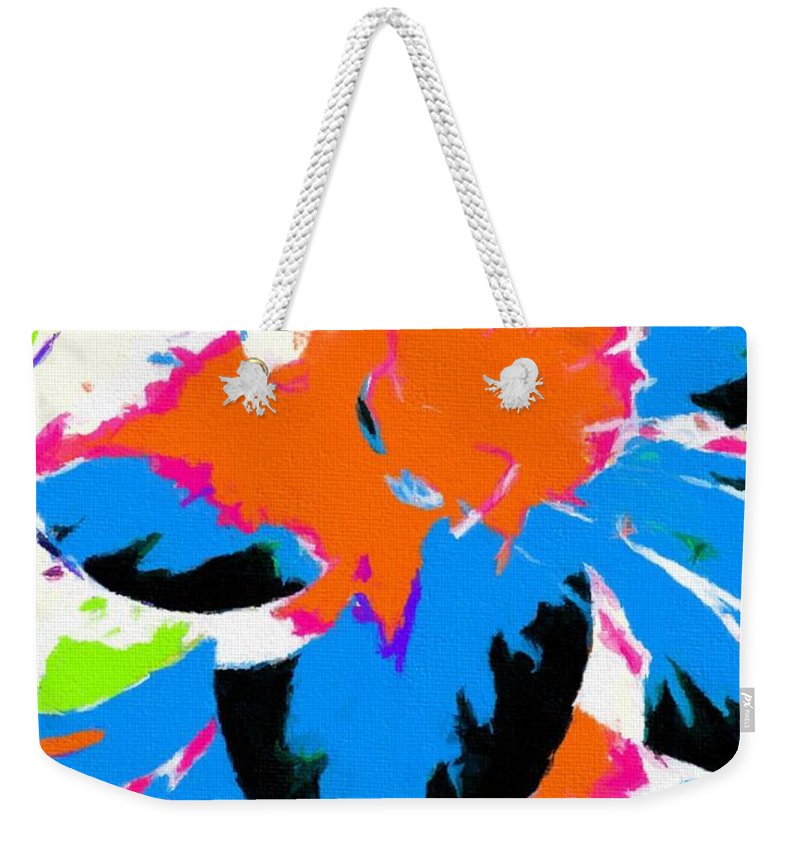 Abstract 110 Weekender Tote Bag featuring the digital art Abstract 110 by Barbara Griffin