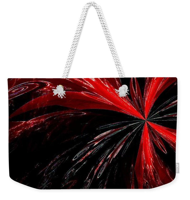 Abstract Weekender Tote Bag featuring the digital art Abstract 139 by Maria Urso