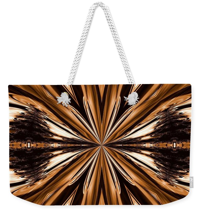 Abstract 141 Weekender Tote Bag featuring the digital art Abstract 141 by Maria Urso