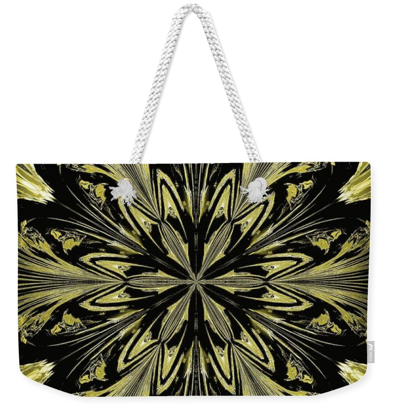Abstract 146 Weekender Tote Bag featuring the digital art Abstract 146 by Maria Urso