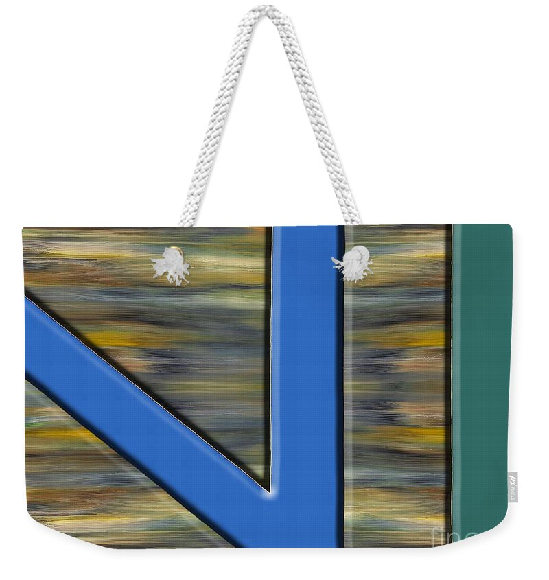 Abstract Weekender Tote Bag featuring the painting Abstract 210 by Patrick J Murphy