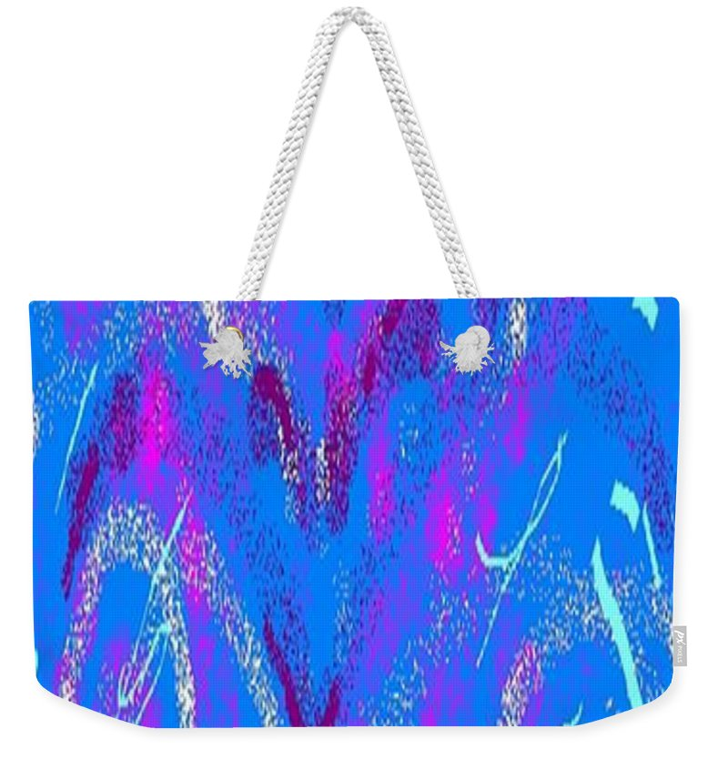 Blue Weekender Tote Bag featuring the painting Abstract #22 by Earnestine Clay