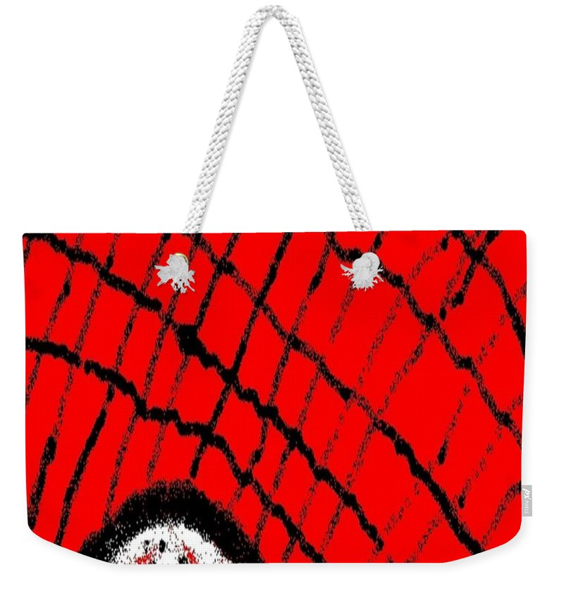 Web Weekender Tote Bag featuring the painting Abstract #23 by Earnestine Clay