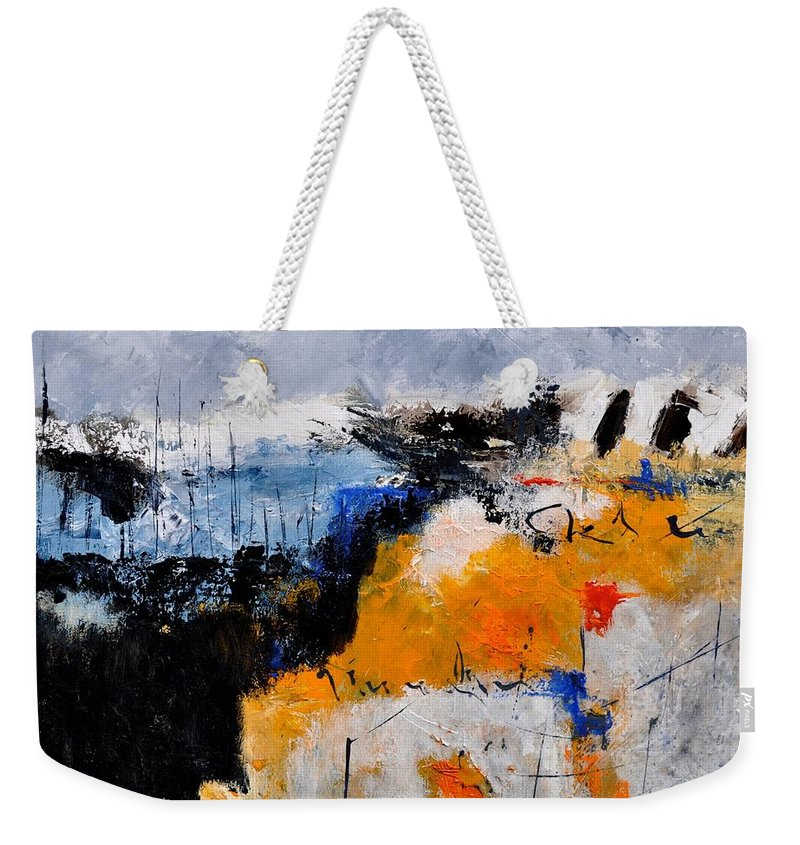 Abstract Weekender Tote Bag featuring the painting Abstract 66211142 by Pol Ledent