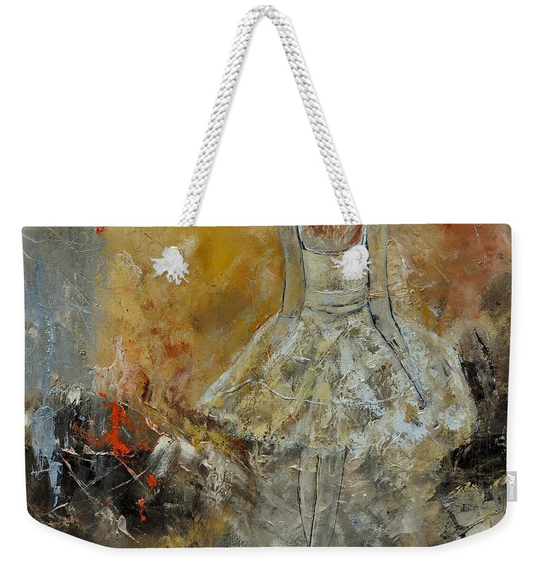 Weekender Tote Bag featuring the painting Abstract 8821151 by Pol Ledent