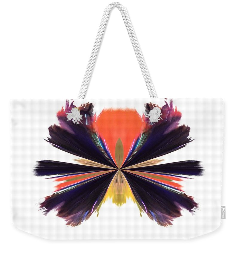Abstract A030 Weekender Tote Bag featuring the digital art Abstract A030 by Maria Urso