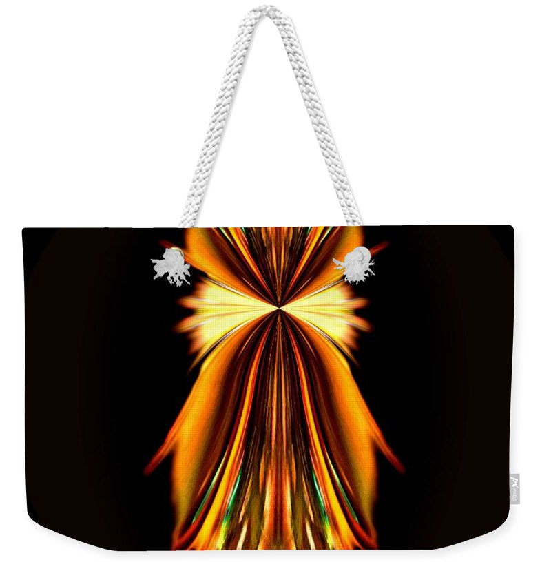 Abstract A030 Weekender Tote Bag featuring the digital art Abstract A031 by Maria Urso