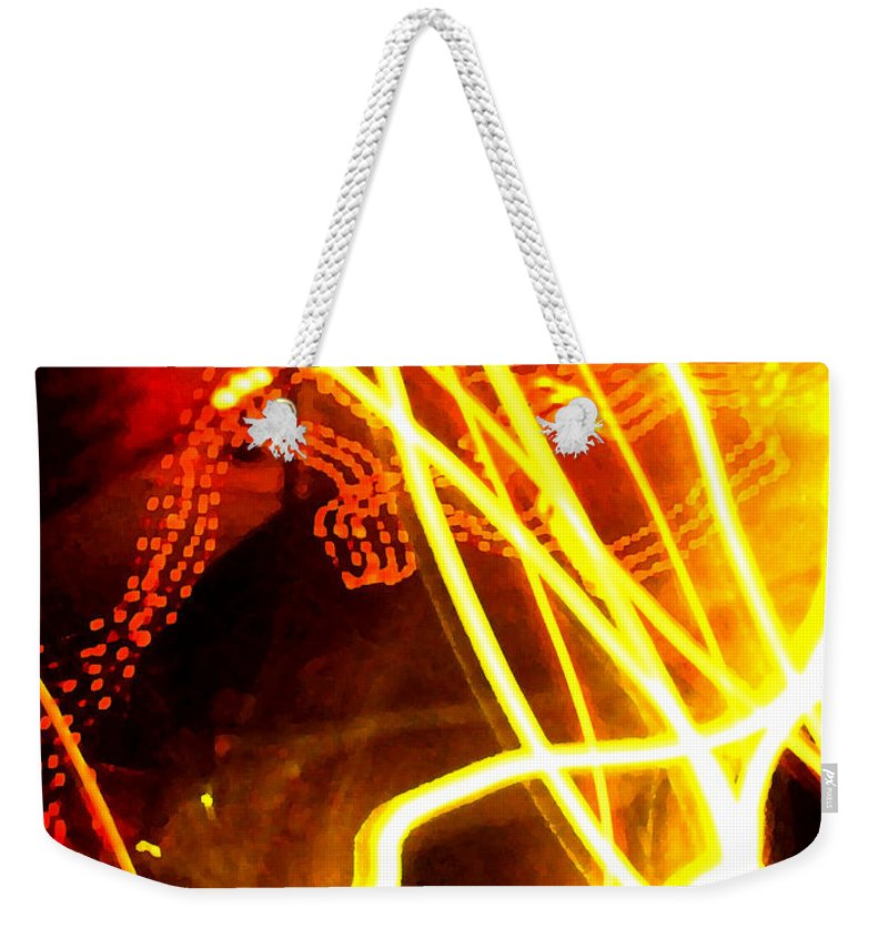 Abstract Weekender Tote Bag featuring the photograph Abstract by Amanda Barcon