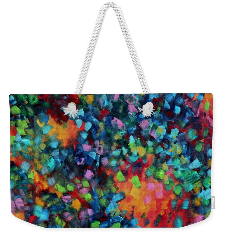 72e6e74fe Wall Weekender Tote Bag featuring the painting Abstract Art Bold Colorful  Modern Art Original Painting Color