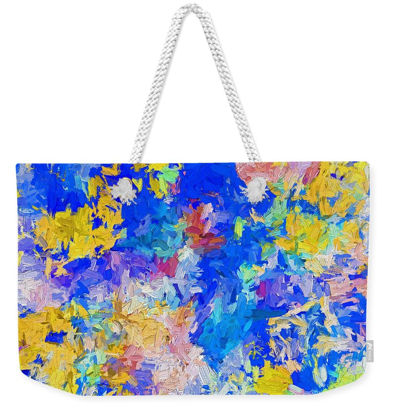 Abstract Weekender Tote Bag featuring the digital art Abstract Series B10 by Carlos Diaz