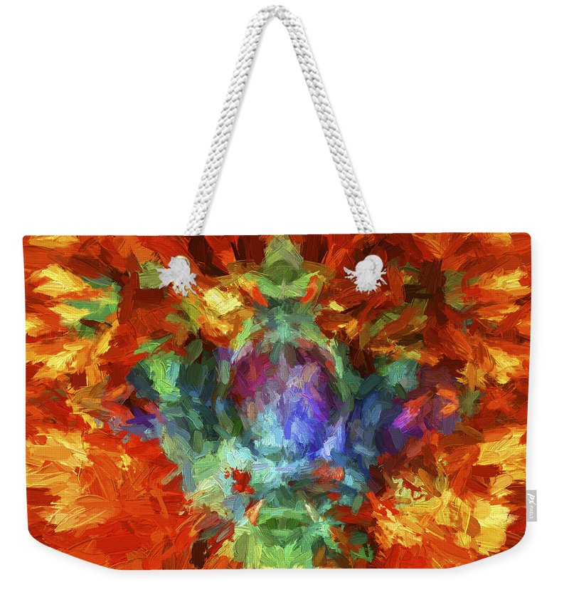 Abstract Weekender Tote Bag featuring the digital art Abstract Series B5 by Carlos Diaz