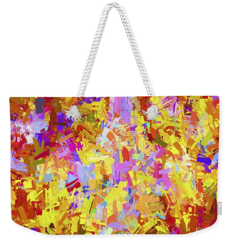 Abstract Weekender Tote Bag featuring the digital art Abstract Series B6 by Carlos Diaz