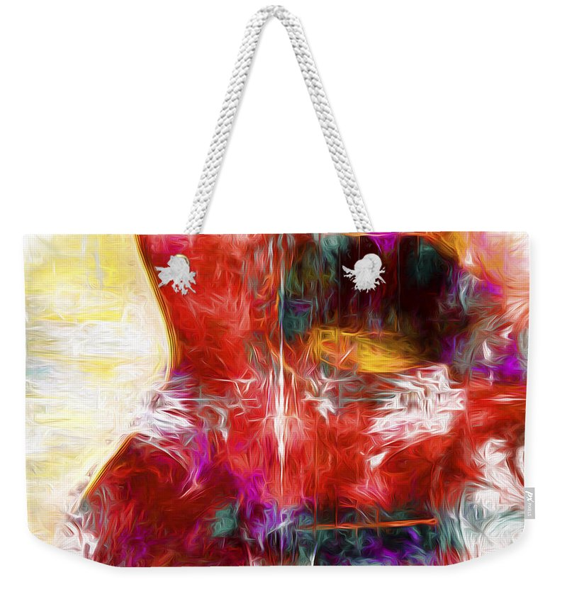 Abstract Weekender Tote Bag featuring the digital art Abstract Series B8 by Carlos Diaz