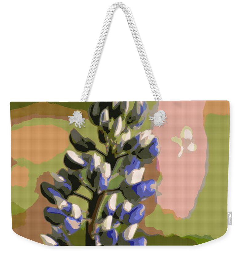 Blue Weekender Tote Bag featuring the photograph Abstract Blue Lupine by Kenny Glotfelty