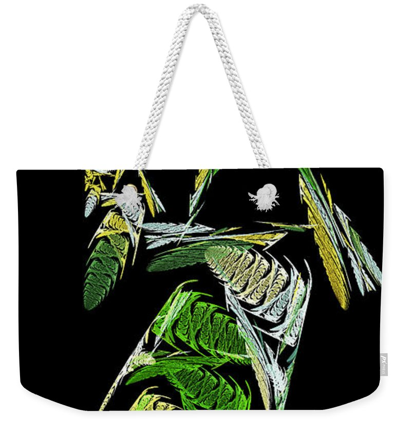 Abstract Weekender Tote Bag featuring the digital art Abstract Bugs Vertical by Andee Design