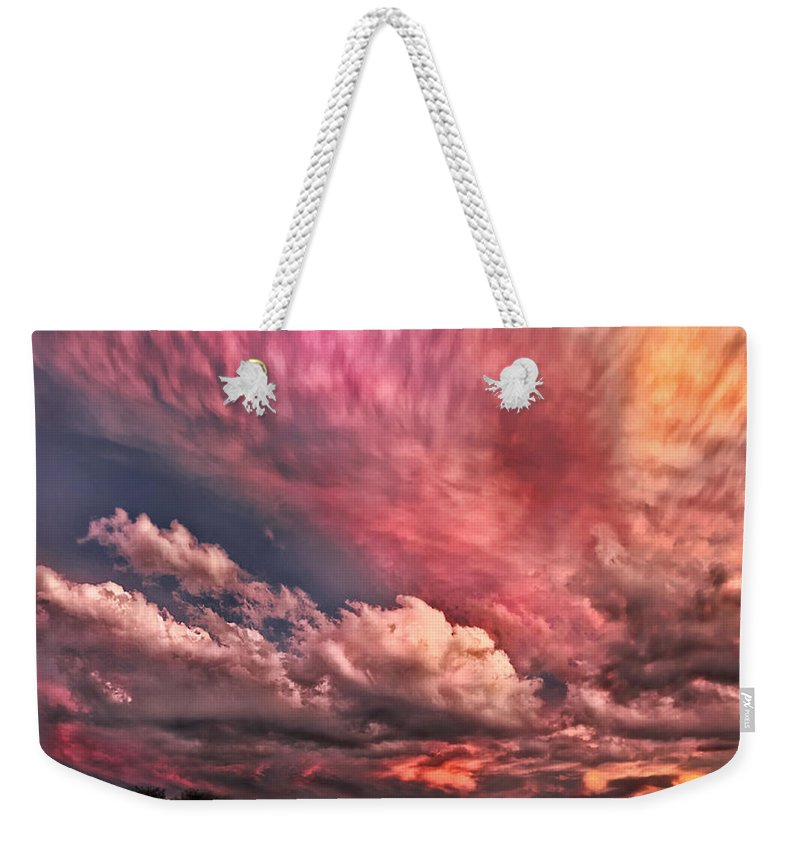 Abstract Painting Weekender Tote Bag featuring the photograph Abstract Clouds by Louise Hill