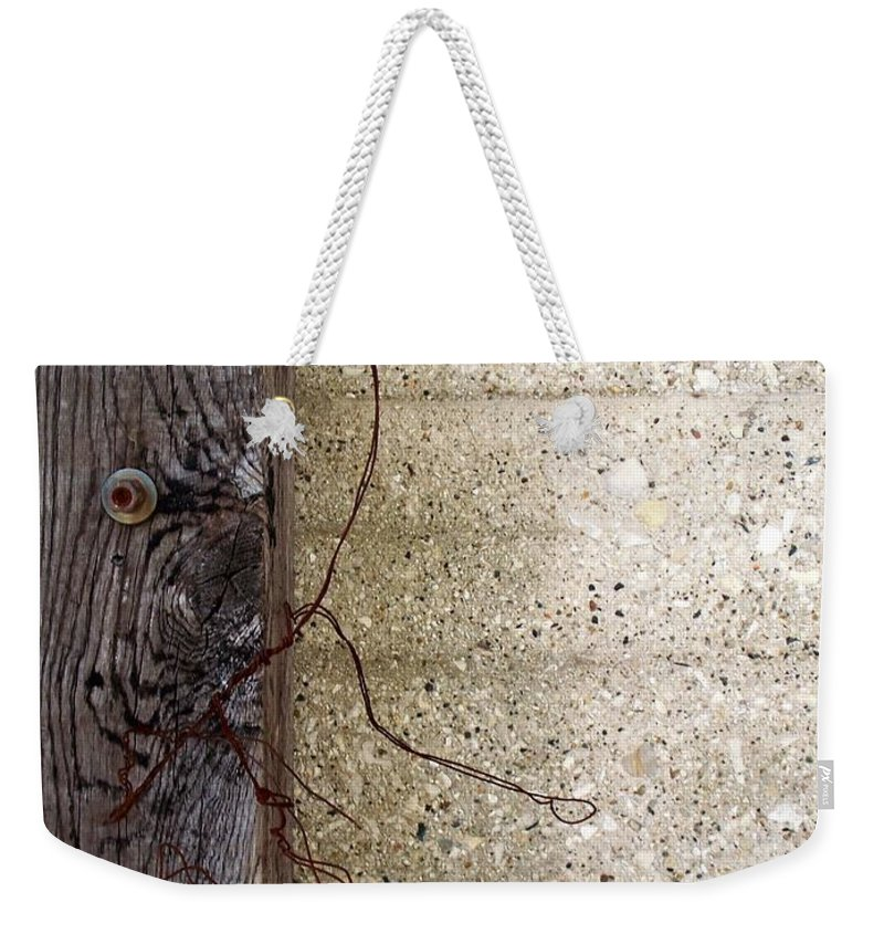 Industrial. Urban Weekender Tote Bag featuring the photograph Abstract Concrete 11 by Anita Burgermeister