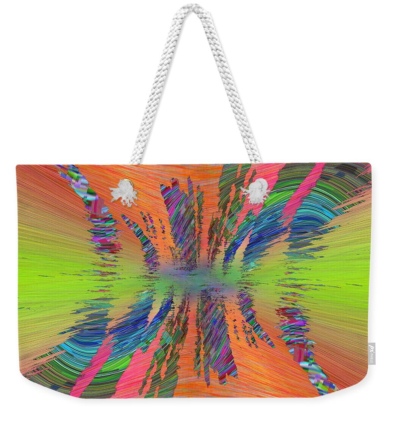 Abstract Weekender Tote Bag featuring the digital art Abstract Cubed 168 by Tim Allen